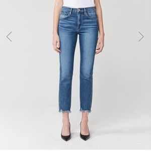 NWOT W3 Straight Authentic Crop High Rise Jean